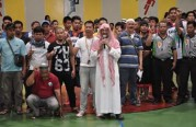 نبشركم بإسلام ١٠٣ فلبيني خلال البرنامج الرياضي لكرة السلة بنادي الجبيل الرياضي